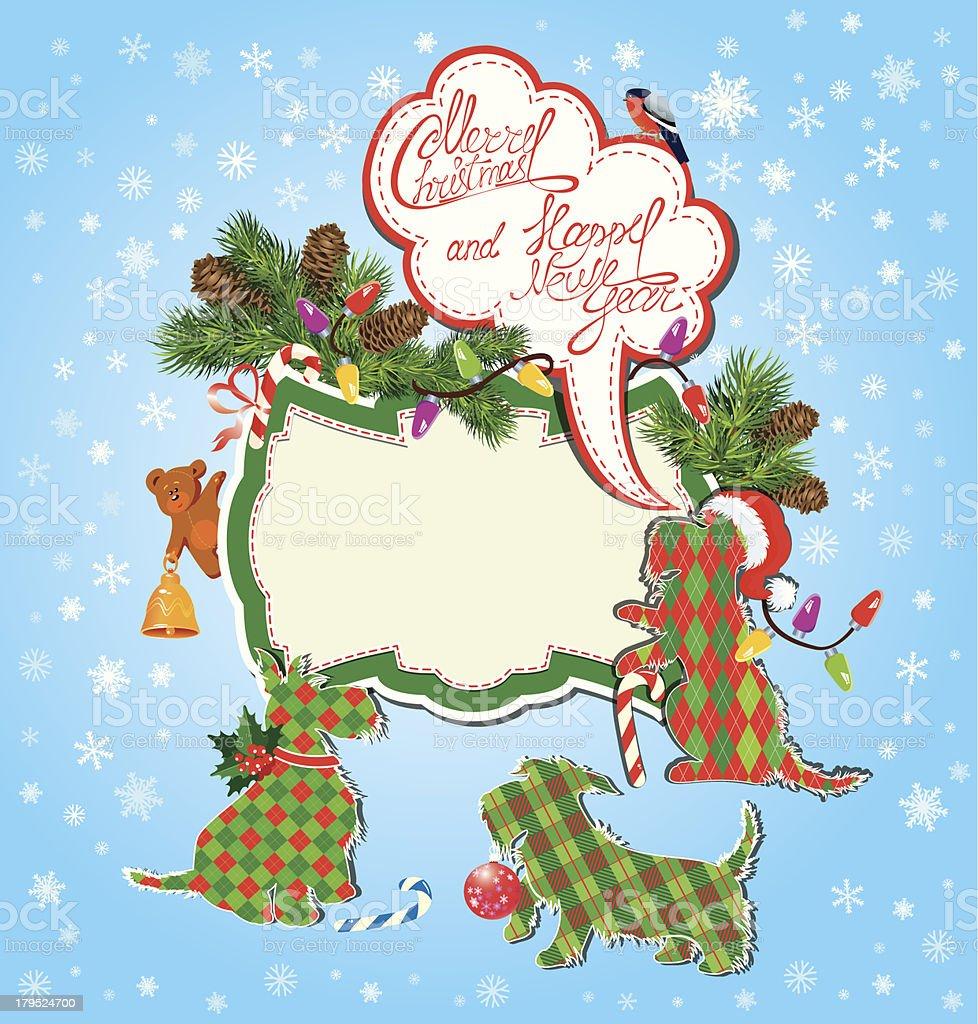 Christmas and New Year holidays card royalty-free stock vector art