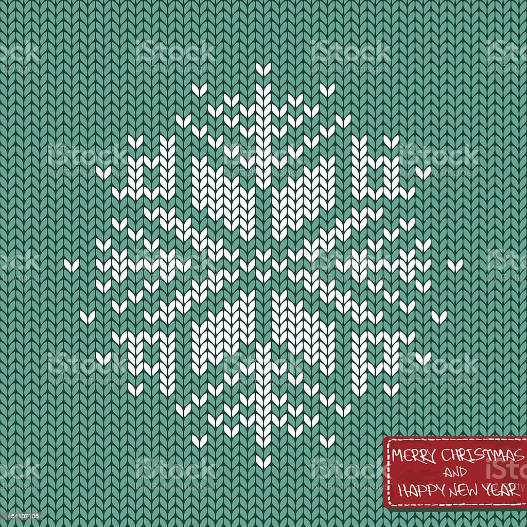 Christmas and New Year knitted seamless pattern or card vector art illustration