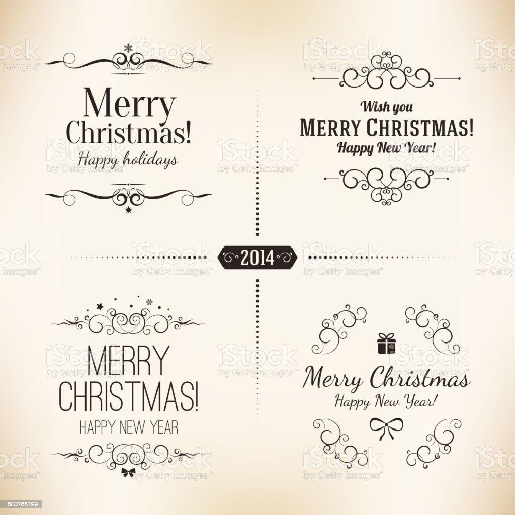 Christmas and New Year symbols royalty-free stock vector art