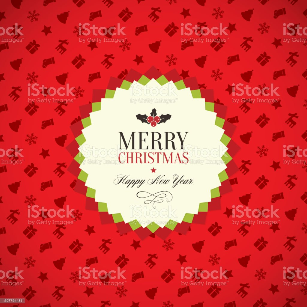 Christmas and New Year royalty-free stock vector art