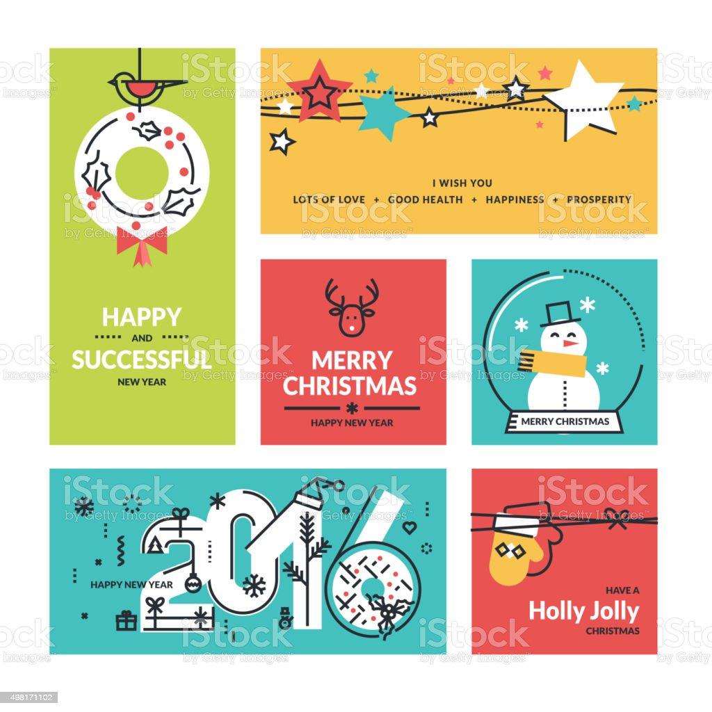 Navidad y Año Nuevo colección illustracion libre de derechos libre de derechos