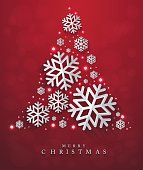 Christmas and New Years red background