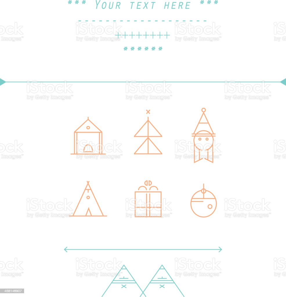 Christmas and New Year's vector pattern vector art illustration