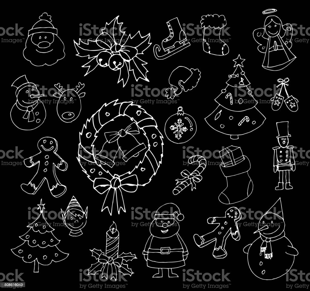 Christmas and Winter icons collection royalty-free stock vector art