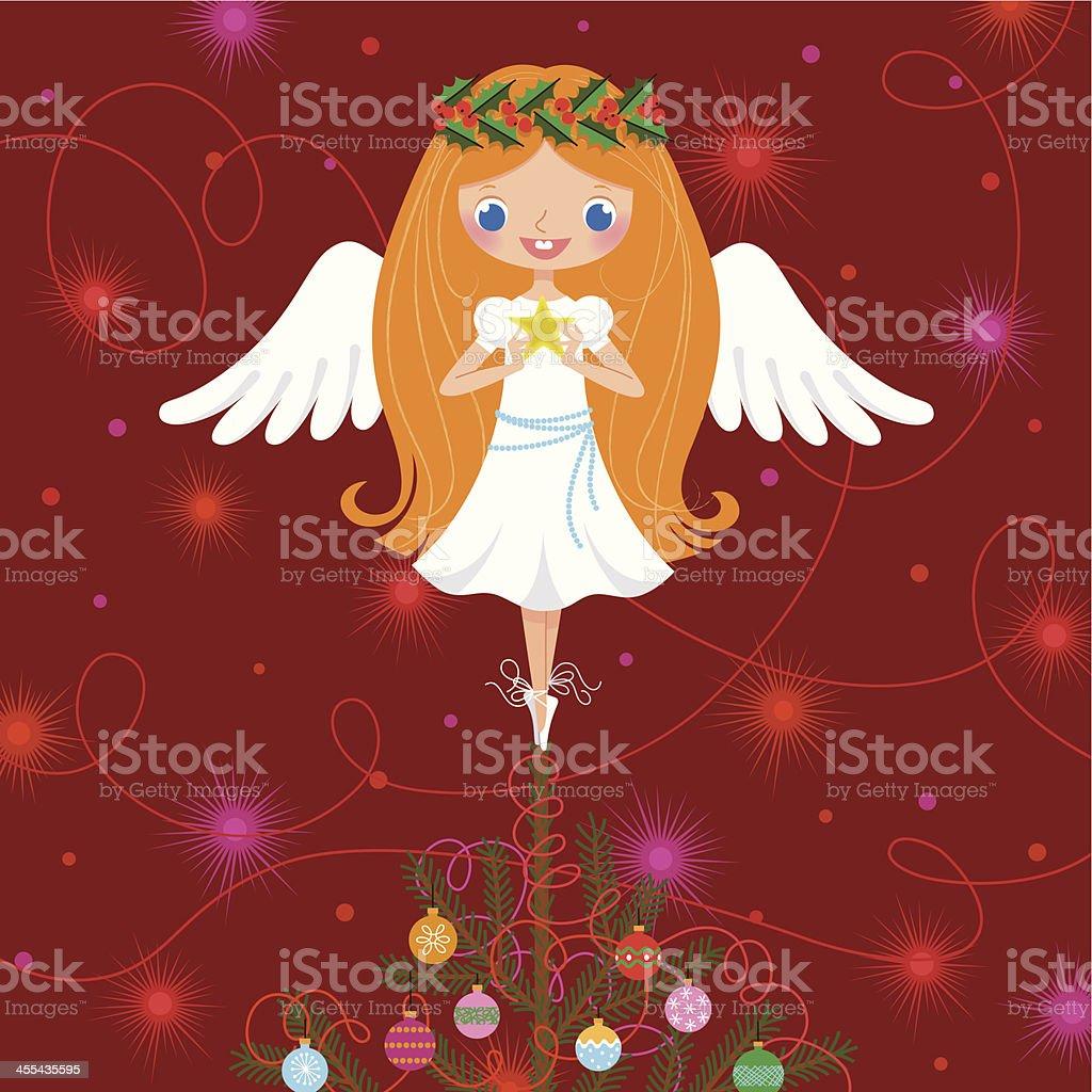 Christmas Angel. vector art illustration