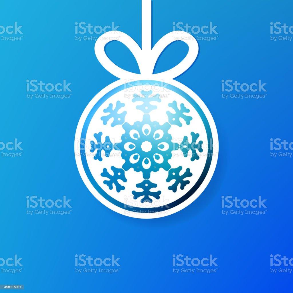 Christmas applique snowflak background. + EPS8 vector art illustration