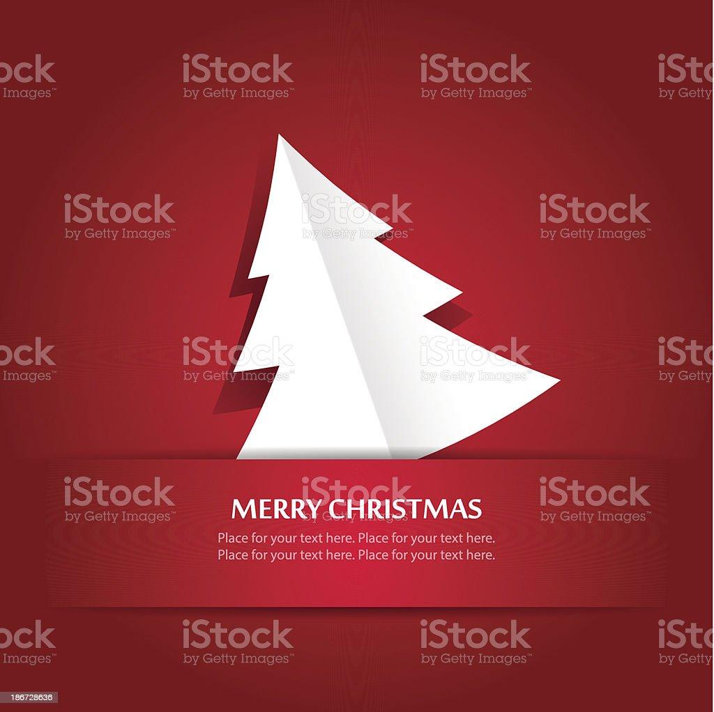 Christmas applique tree vector art illustration