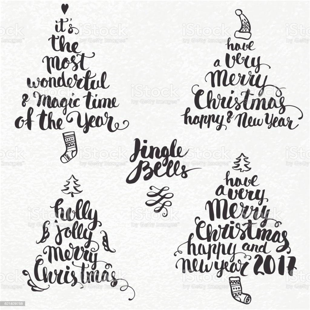 Christmas background and callygraphy vector art illustration
