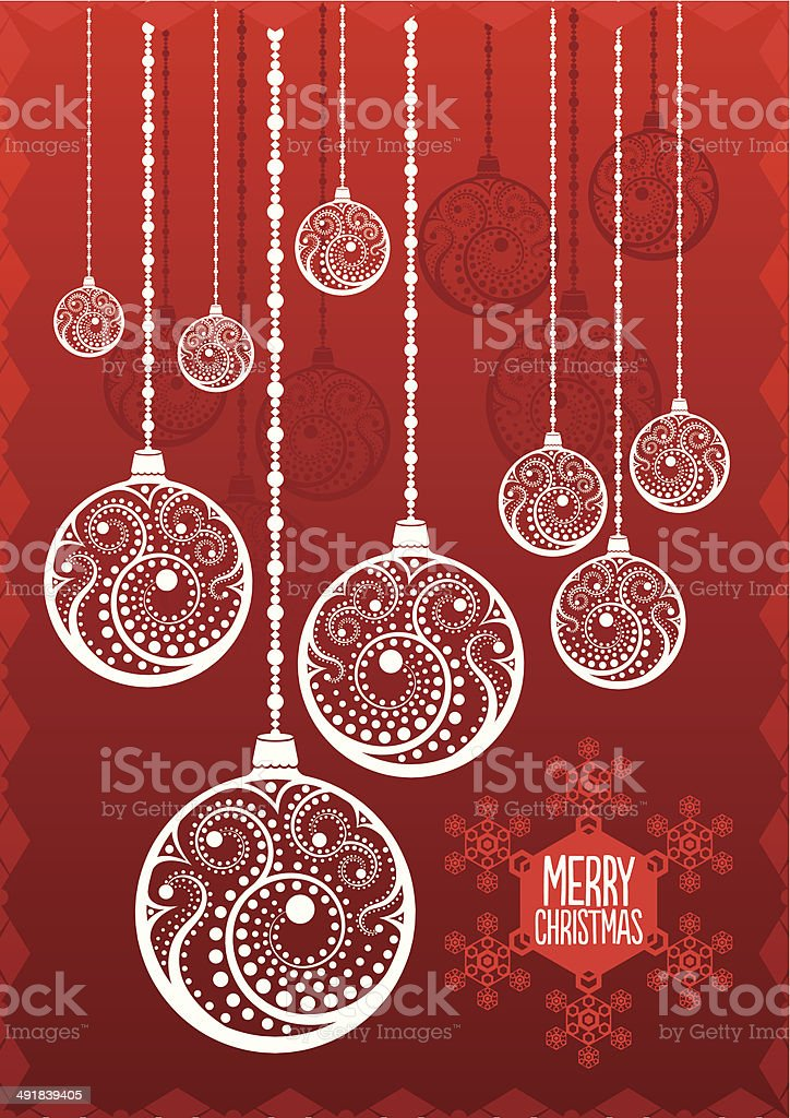 Christmas Background Baubles royalty-free stock vector art