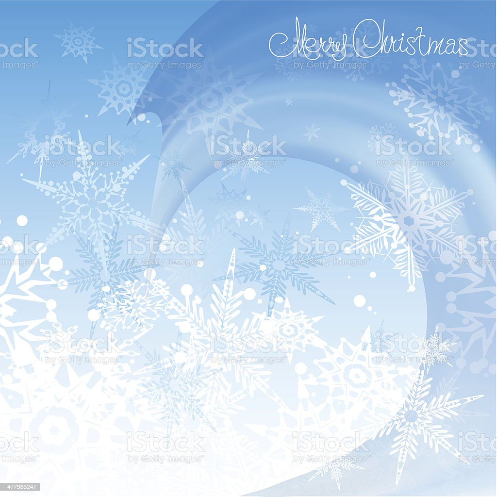 Christmas Background. Blue royalty-free stock vector art