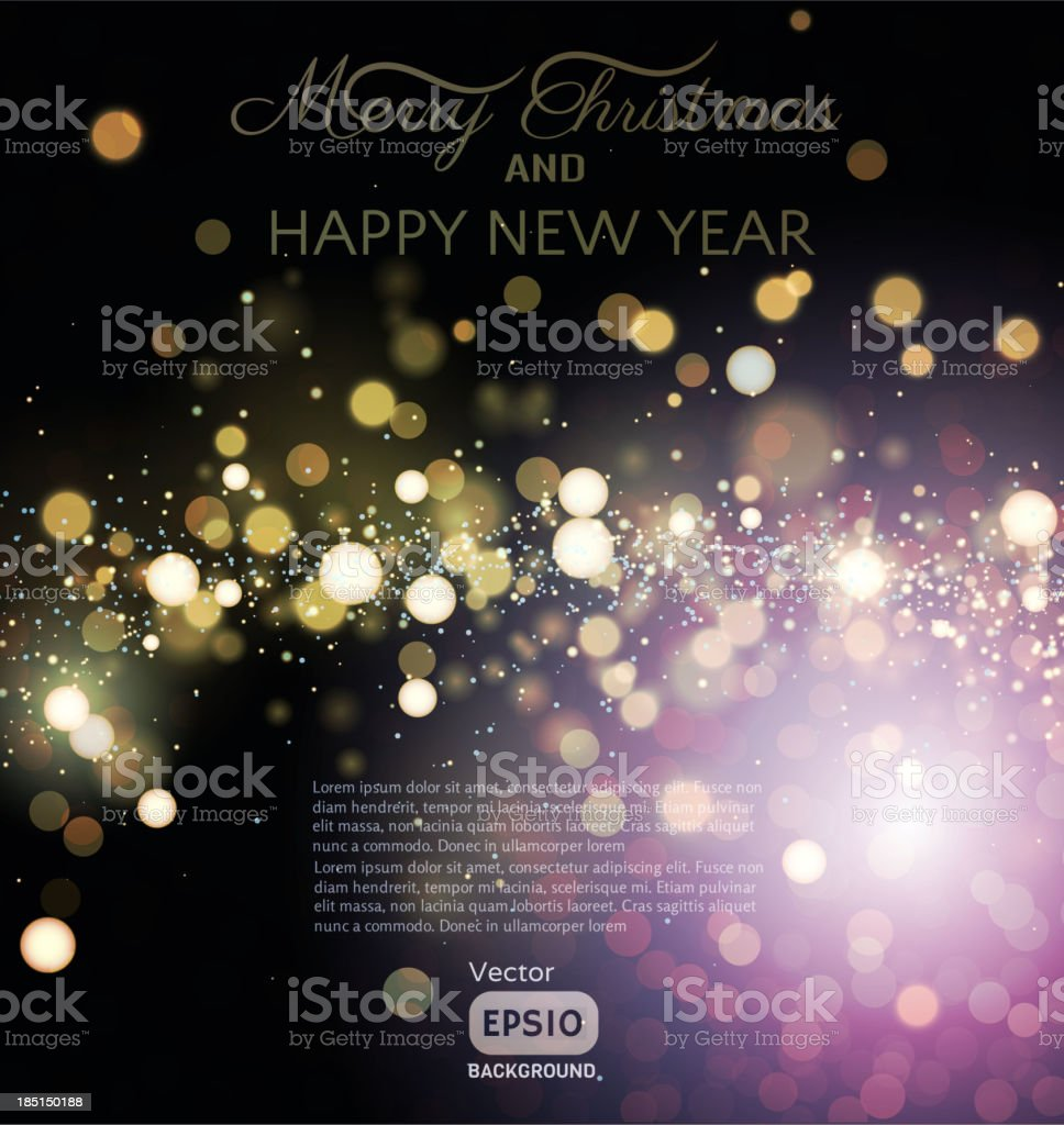 Christmas Background - Illustration vector art illustration