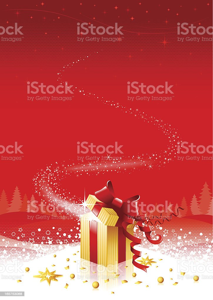 Christmas background illustration with gift box royalty-free stock vector art
