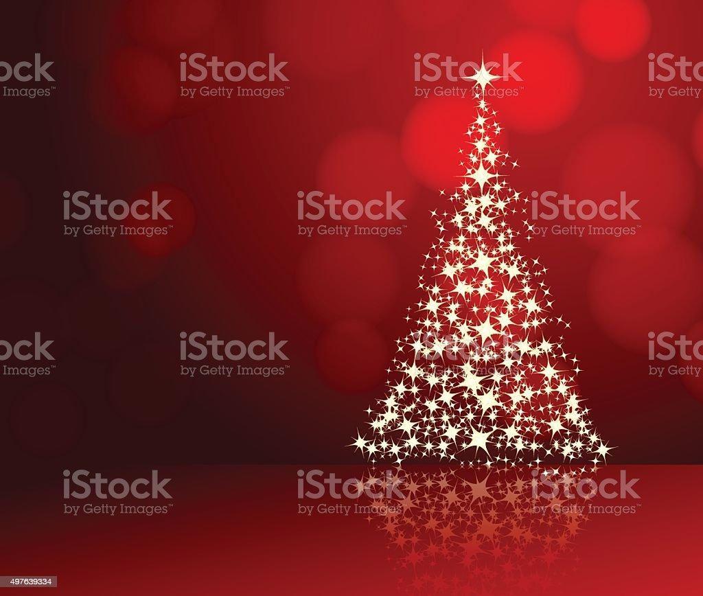 christmas background red vector art illustration