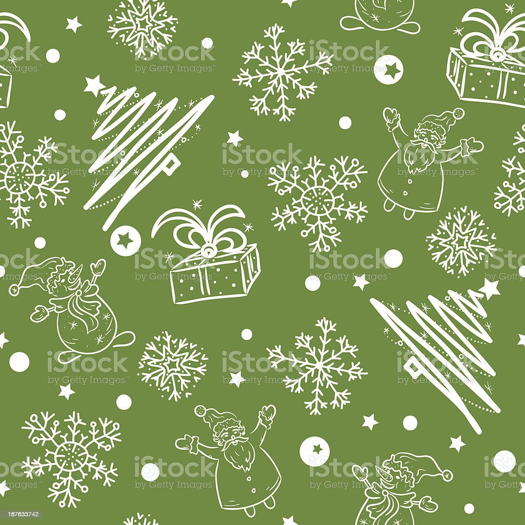 Christmas background. Seamless pattern. royalty-free stock vector art
