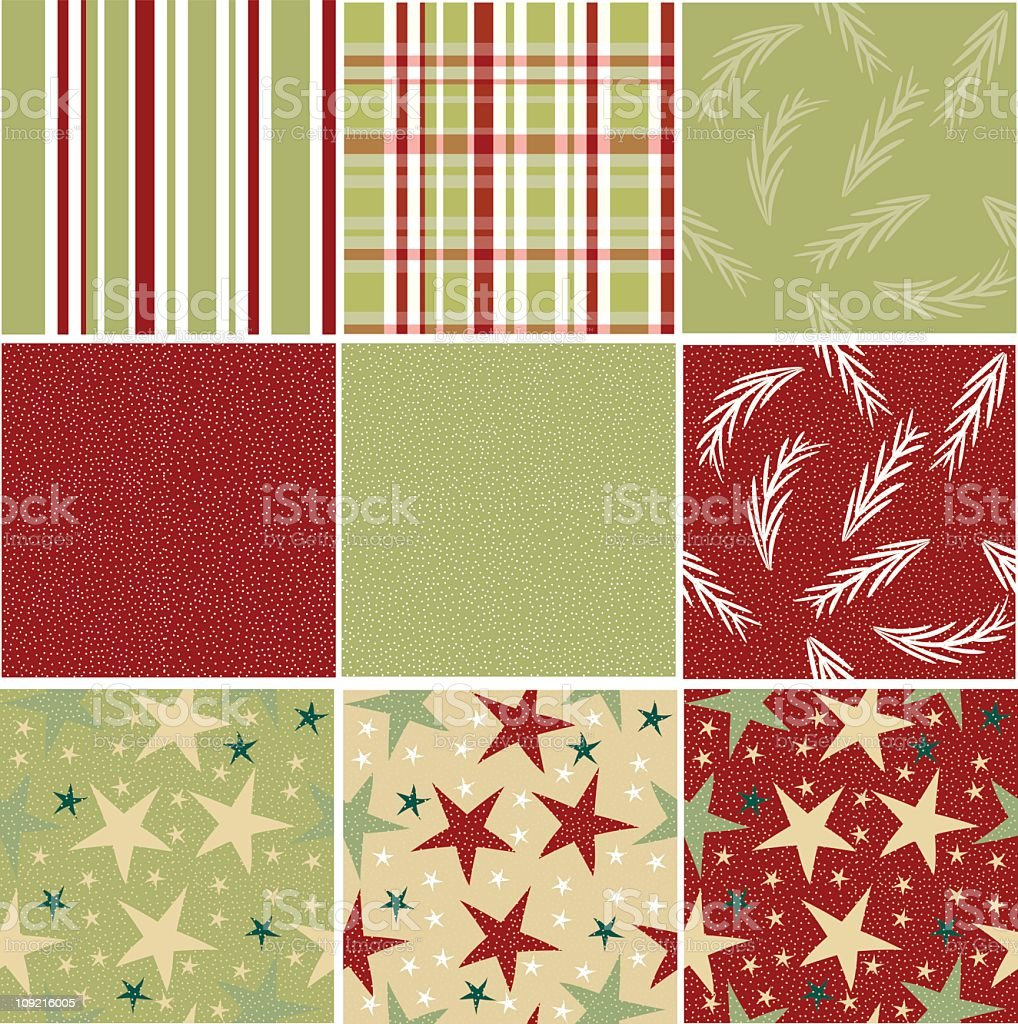 Christmas background tile collection royalty-free stock vector art