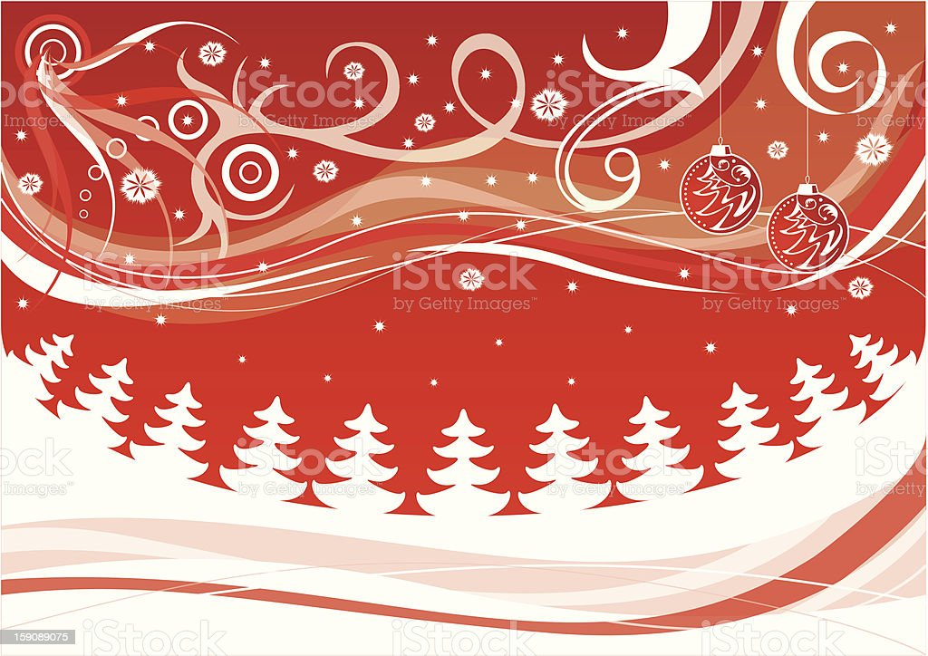 christmas background, vector illustration royalty-free stock vector art