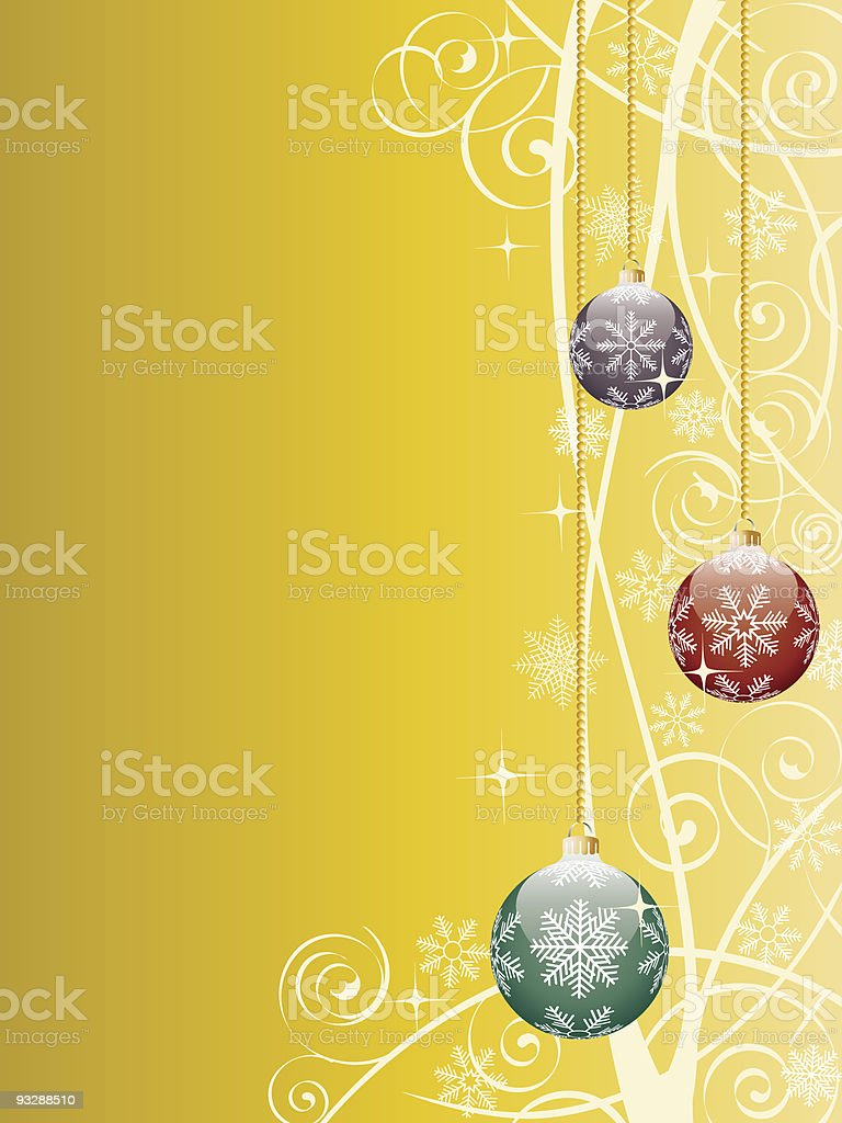 Christmas background with a holiday baubles. royalty-free stock vector art