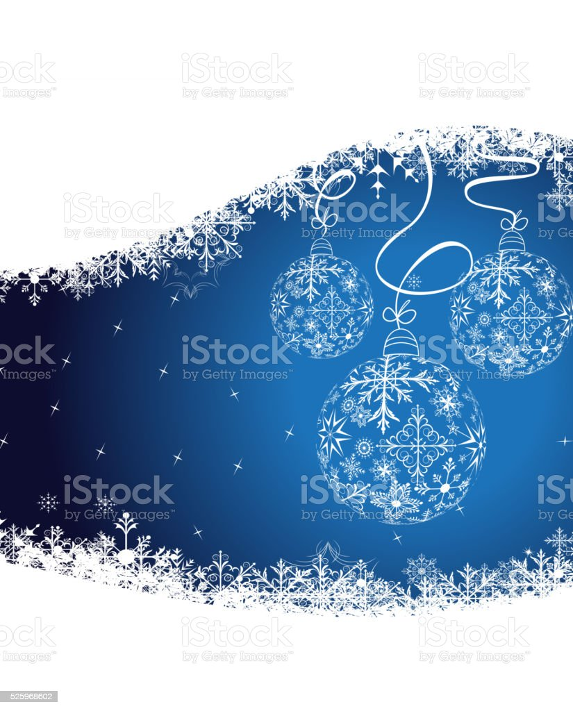 christmas background with balls vector art illustration