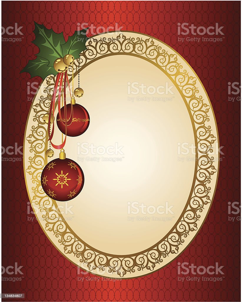 Christmas background with balls. Vintage vector royalty-free stock vector art