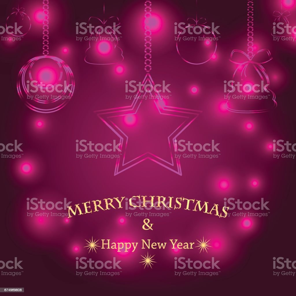 Christmas background with Christmas decorations vector art illustration