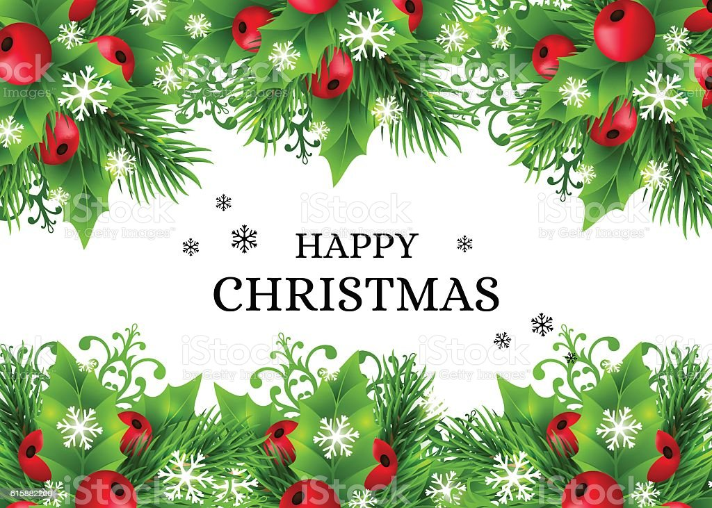 Photo collection christmas background with holly for Background decoration images
