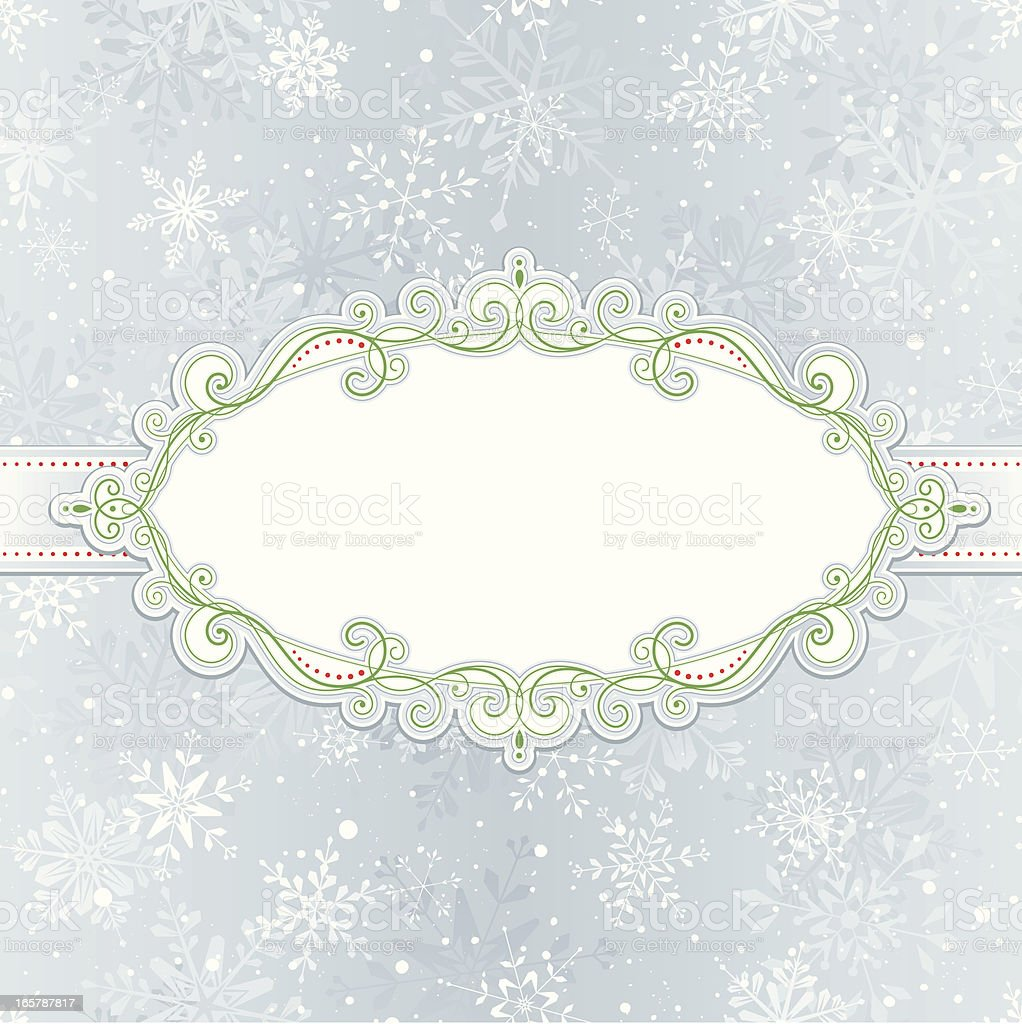 Christmas Background with Frame and Seamless Pattern royalty-free stock vector art