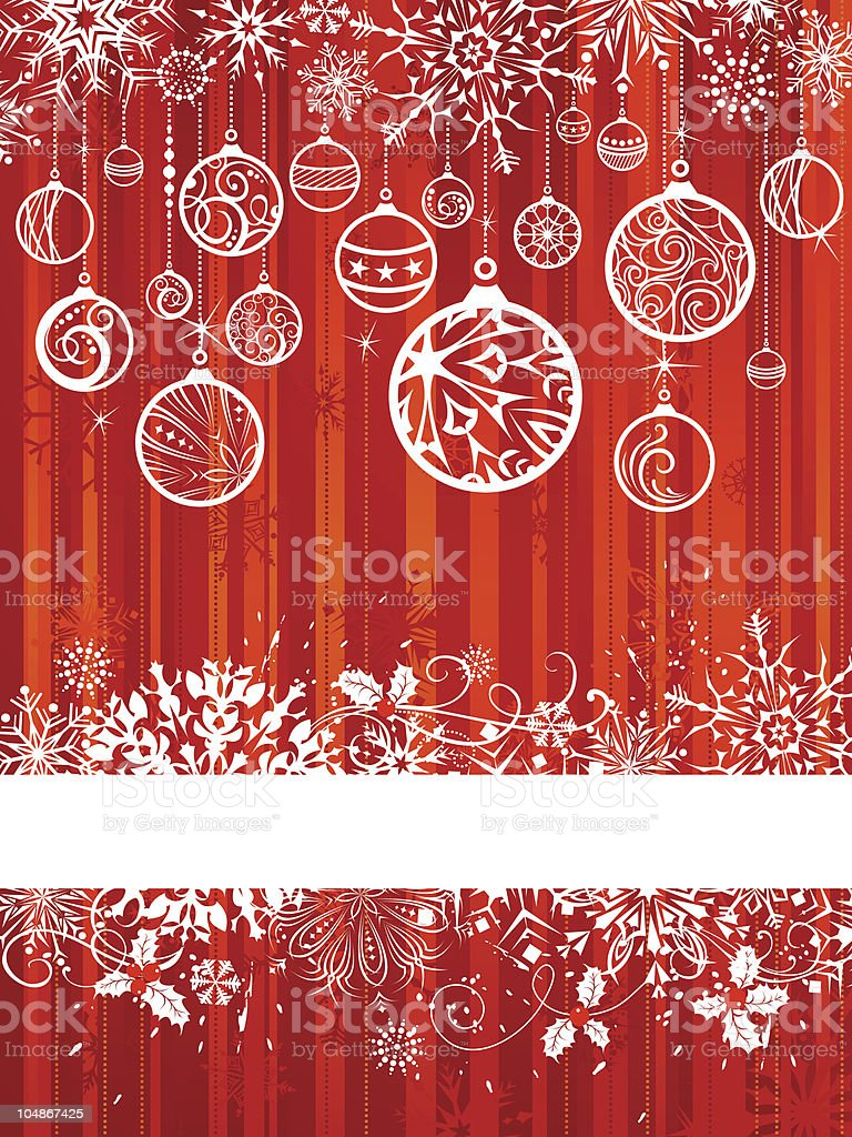Christmas background with free place for text royalty-free stock vector art