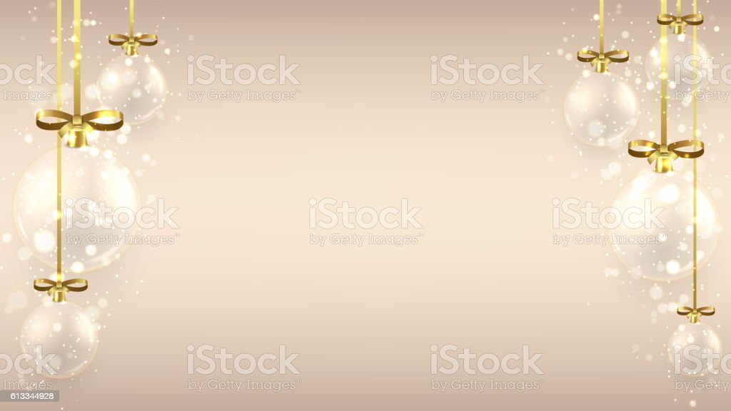 Christmas background with glass balls royalty-free stock vector art