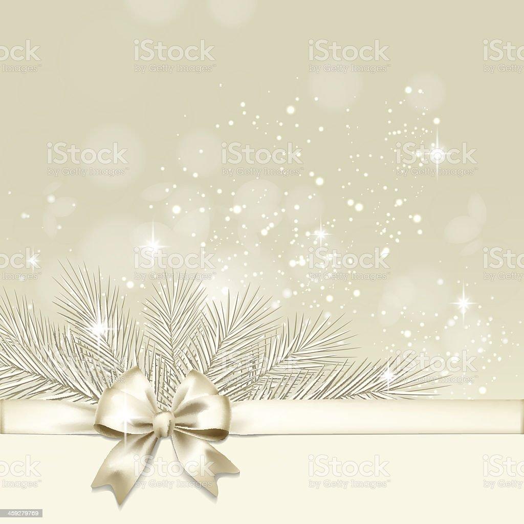 Fundo de Natal com laço de ouro vetor vetor e ilustração royalty-free royalty-free