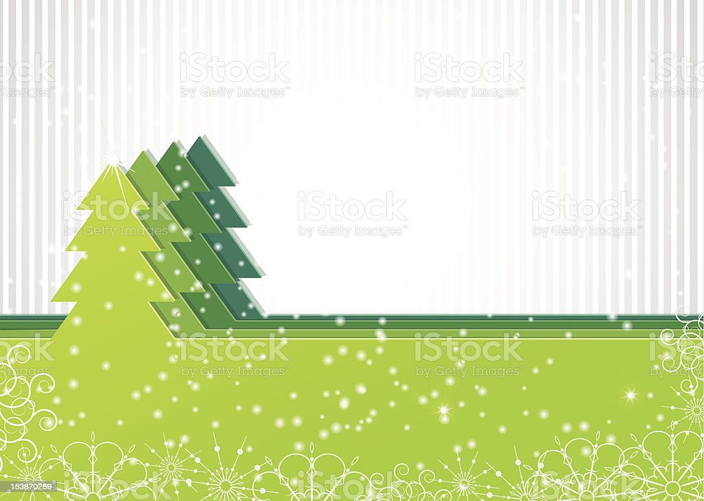 Christmas background with green fir-tree royalty-free stock vector art