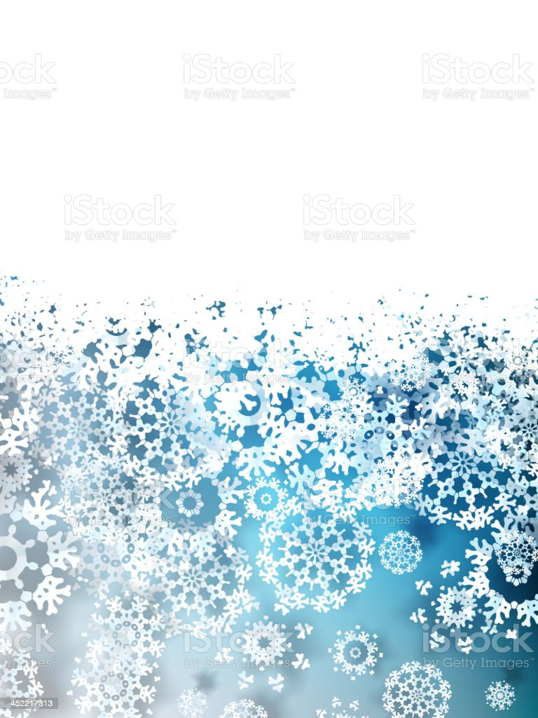 Christmas Background with paper snowflakes. EPS 10 royalty-free stock vector art