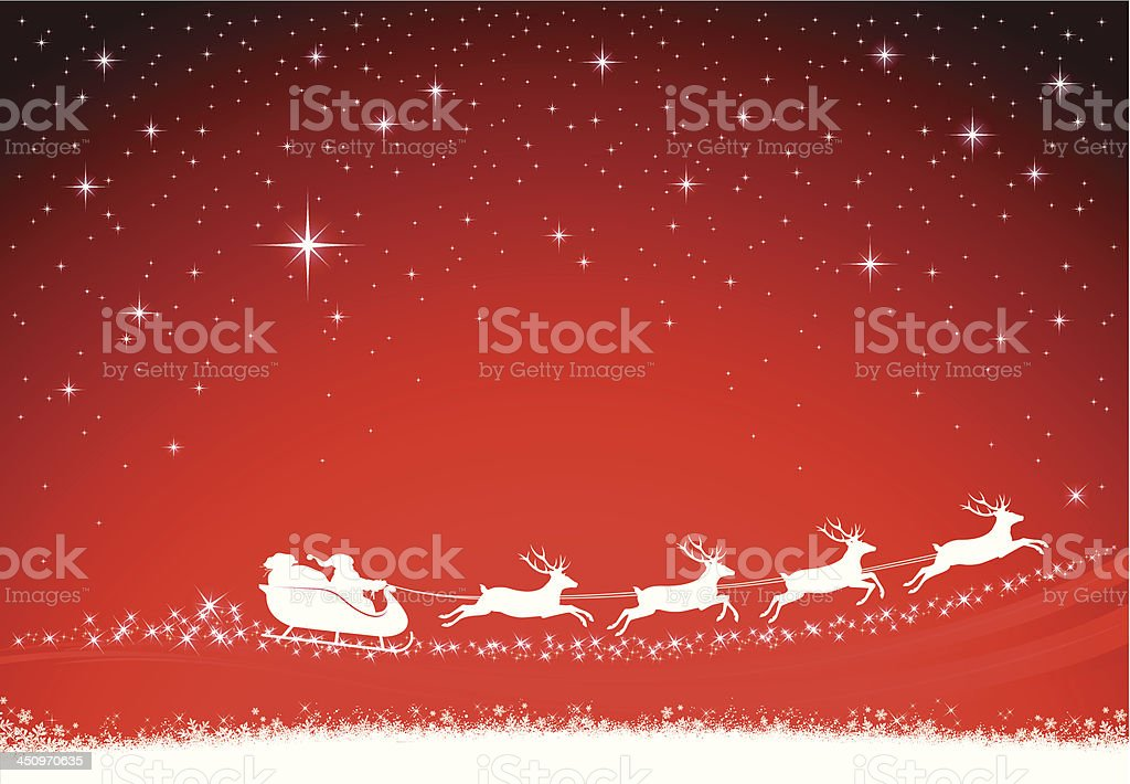 Christmas Background with Santa Claus royalty-free stock vector art