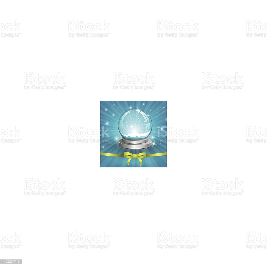 Christmas background with snow globe royalty-free stock vector art