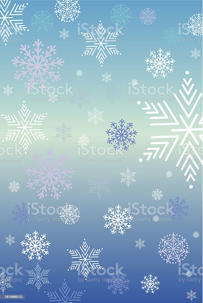 Christmas background with snow star royalty-free stock vector art