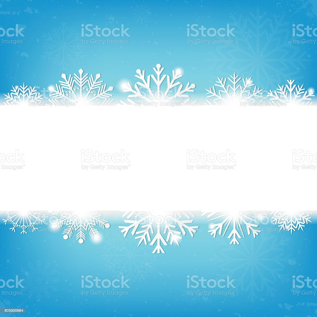 Christmas background with snowflakes and copyspace for text. Vector royalty-free stock vector art