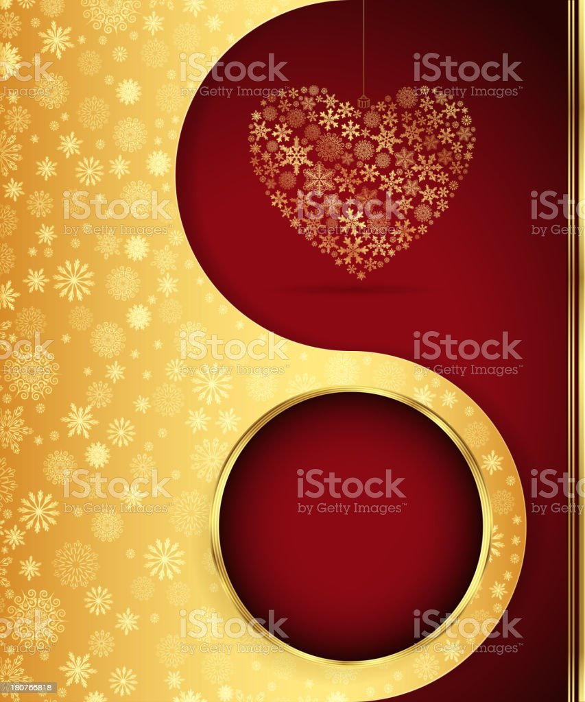 Christmas background with snowflakes design. royalty-free stock vector art