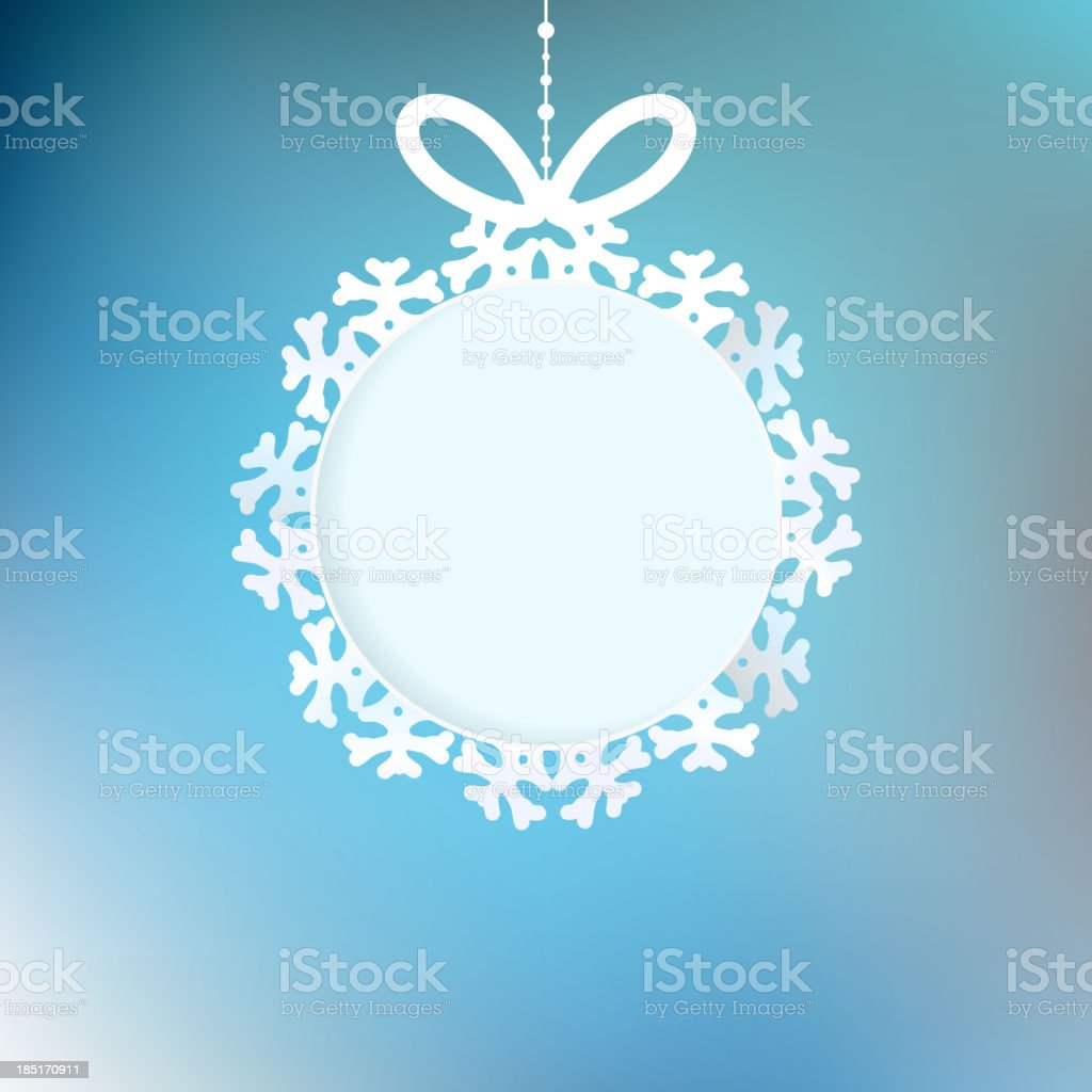 Christmas background with snowflakes. EPS 10 royalty-free stock vector art