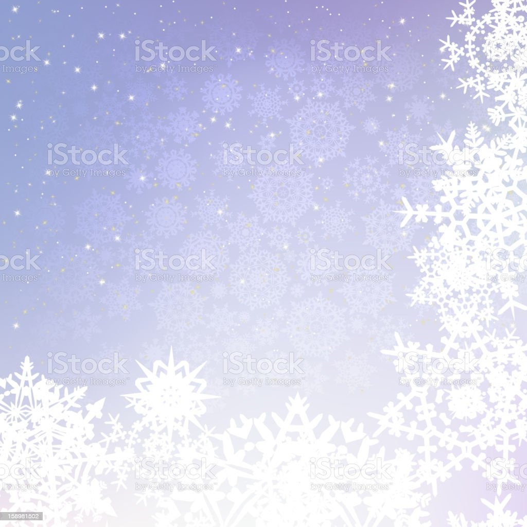 Christmas background with snowflakes. EPS 8 royalty-free stock vector art