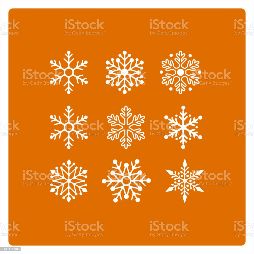 Christmas background with snowflakes set royalty-free stock vector art