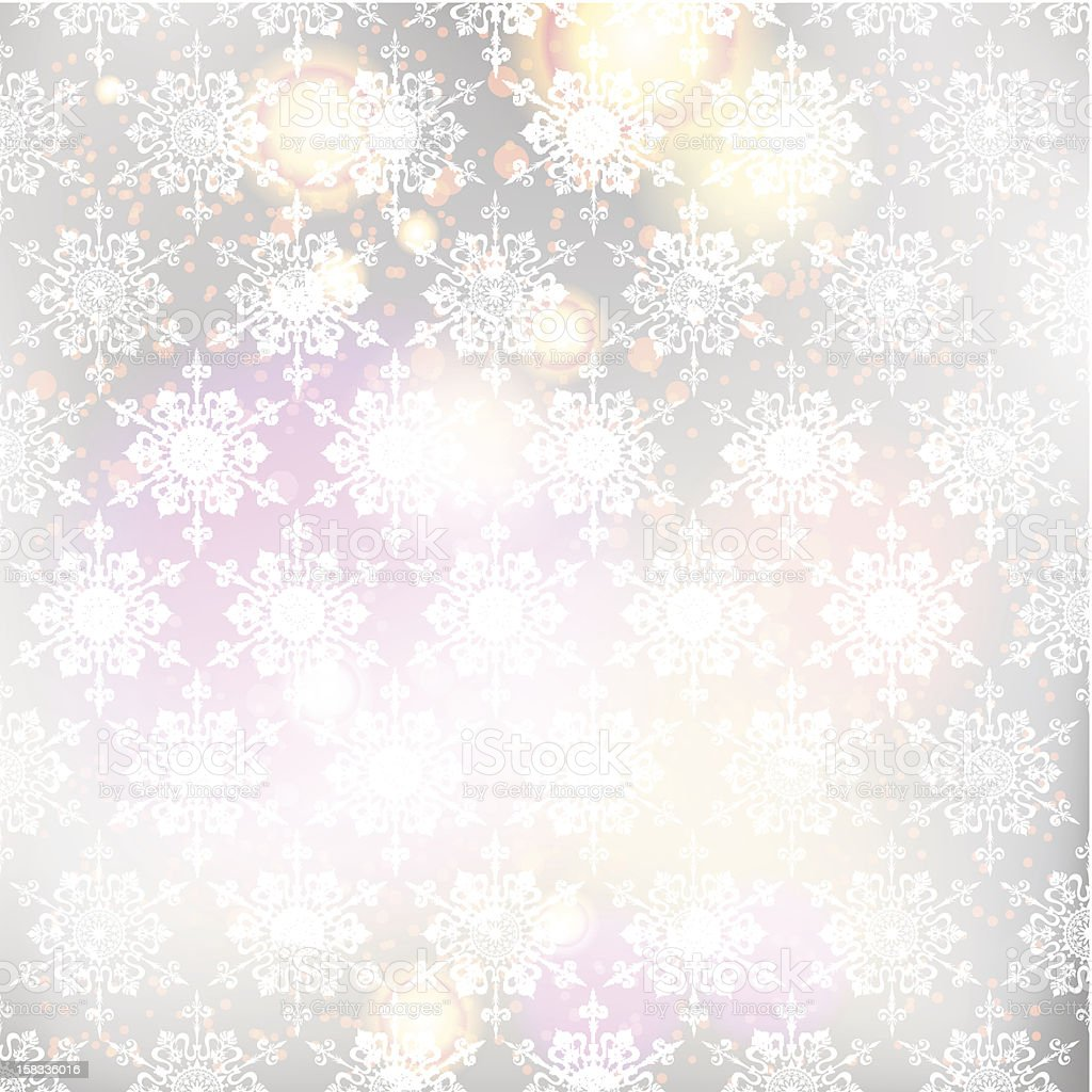 Christmas background with snowflakes royalty-free stock vector art