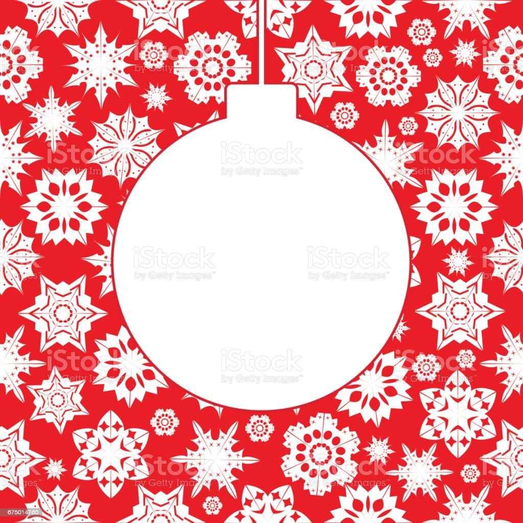 Christmas background with snowflakes vector art illustration