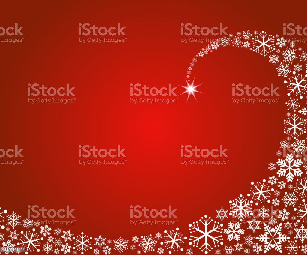 Christmas background with snowflakes wave vector art illustration
