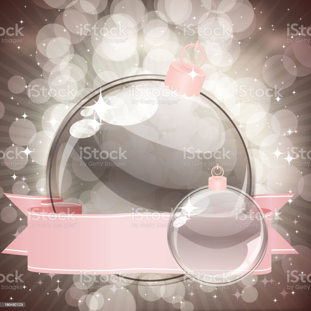 Christmas background with transparent balls royalty-free stock vector art