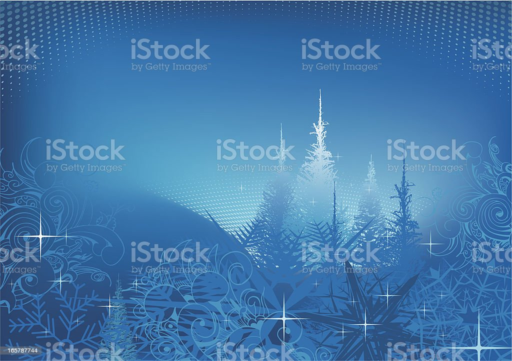 Christmas background with trees royalty-free stock vector art