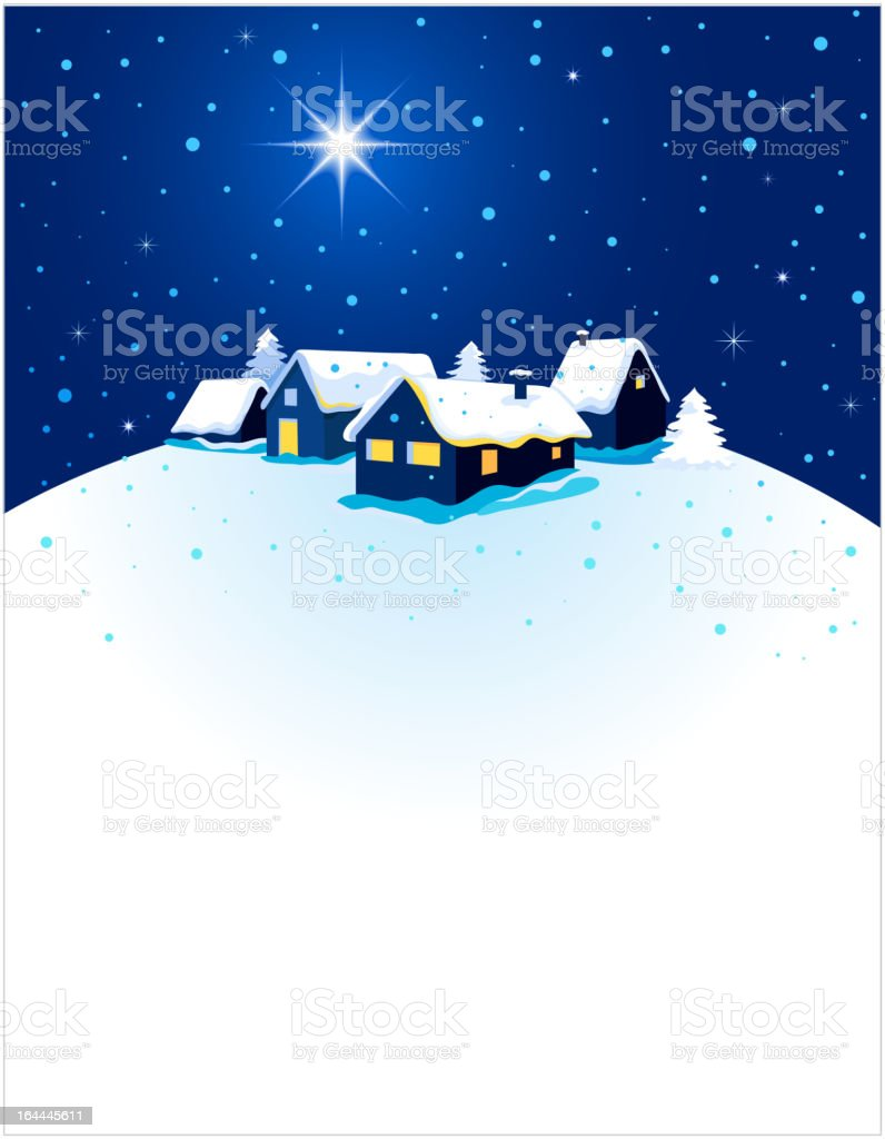 Christmas background with winter night royalty-free stock vector art
