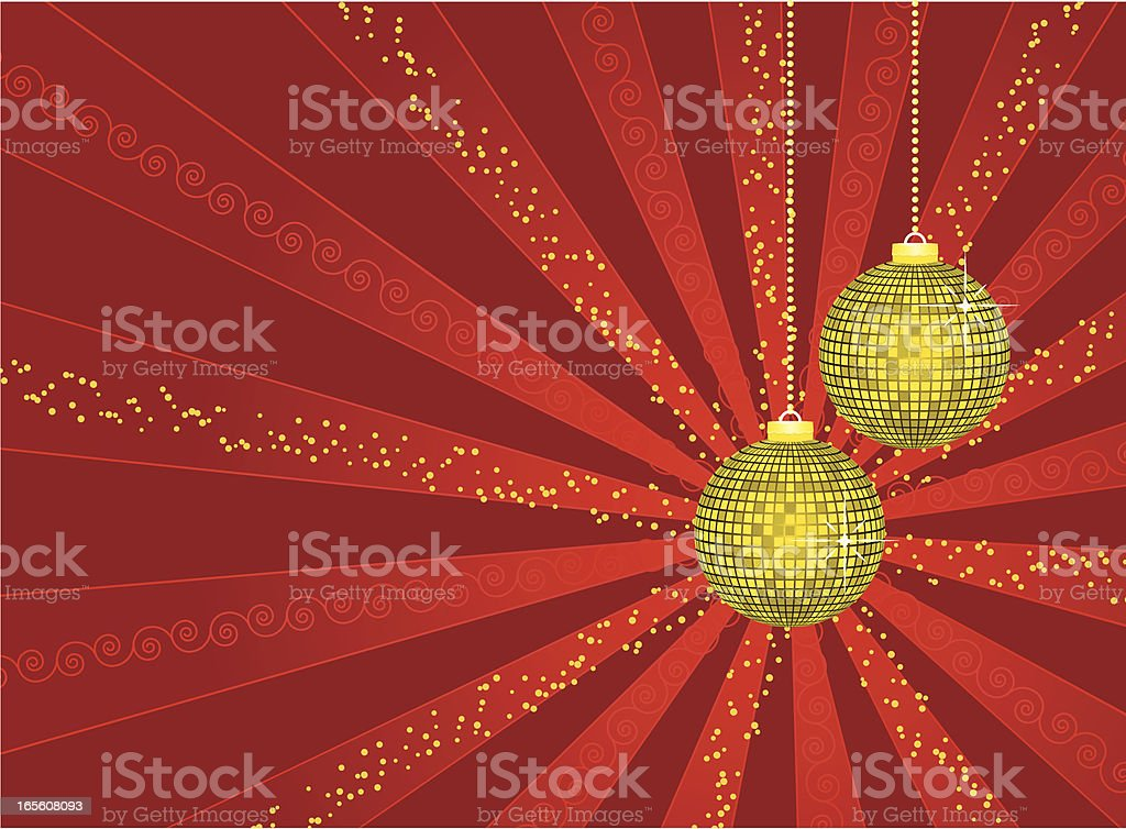 Christmas background-red royalty-free stock vector art