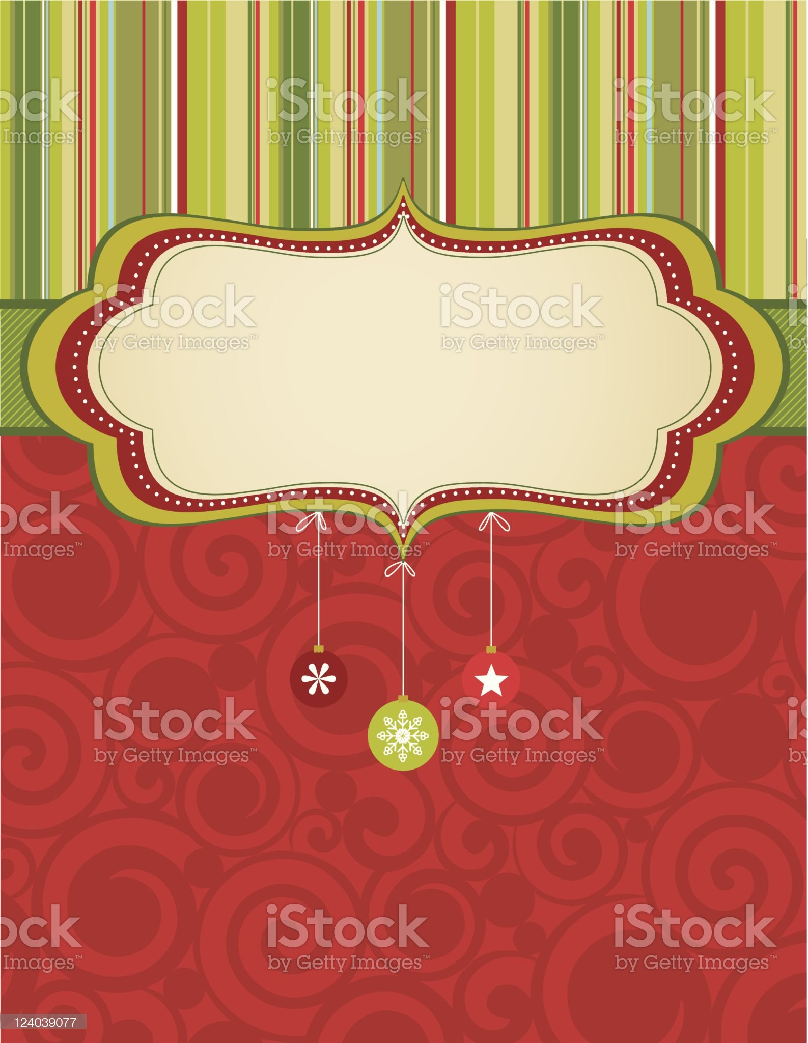 Christmas badge background royalty-free stock vector art