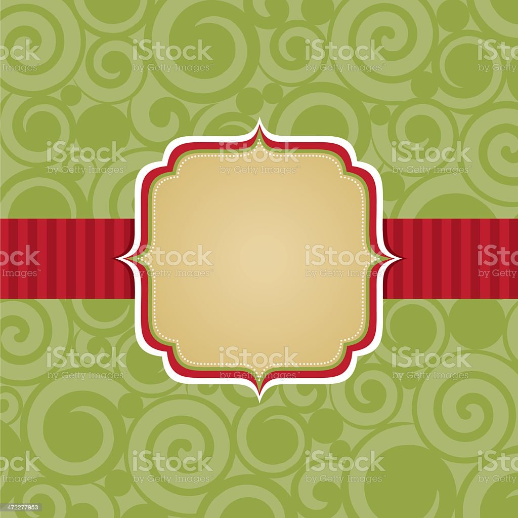 Christmas Badge Background royalty-free stock vector art