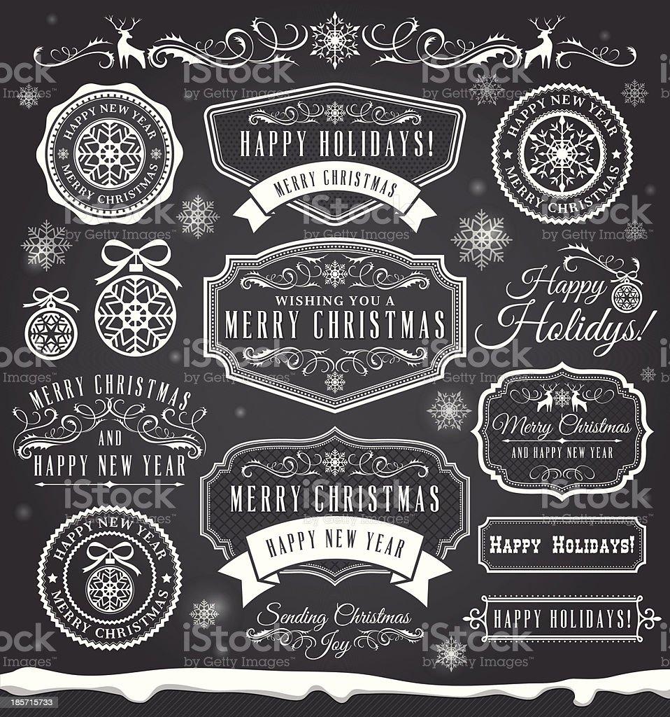 Christmas Badge Set royalty-free stock vector art