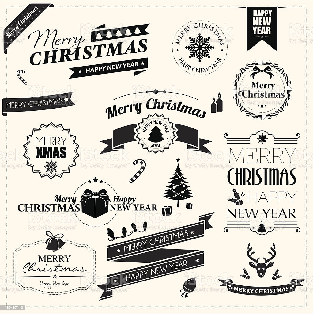 Christmas badges royalty-free stock vector art